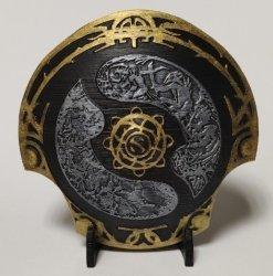 Декоративный щит Дота 2 - Aegis of Champions Dota 2 - Gold/Silver 10 см