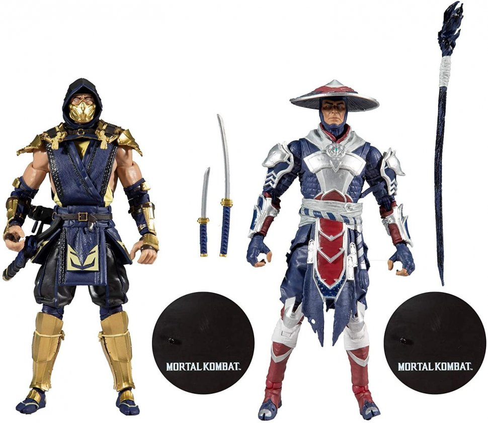 "Набор фигурок McFarlane Mortal Kombat Scorpion and Raiden 7"" Action Figure Multipack"