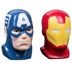 Солонка и Перечница Marvel Captain America and Iron Man Salt and Pepper Shakers