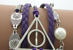 Браслет  Harry potter purple leather