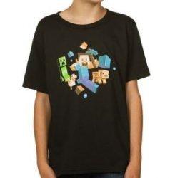 Футболка Minecraft Run Away! Glow in the Dark Youth Tee (размер L)