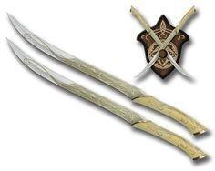 Реплика оружия The Hobbit Legolas Fantasy Fighting Swords with  Display