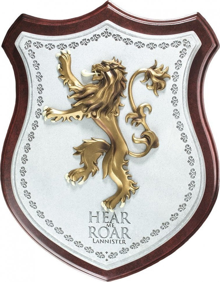 Настенный герб Game of Thrones LANNISTER House Crest Wall Plaque