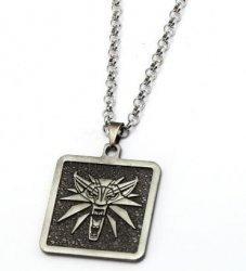 Медальон Ведьмак (The Witcher) Квадрат металл серый