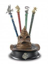 Коллекционный набор Harry Potter - 4 ручки + подставка в виде Сортировочной шляпы Хогвартс