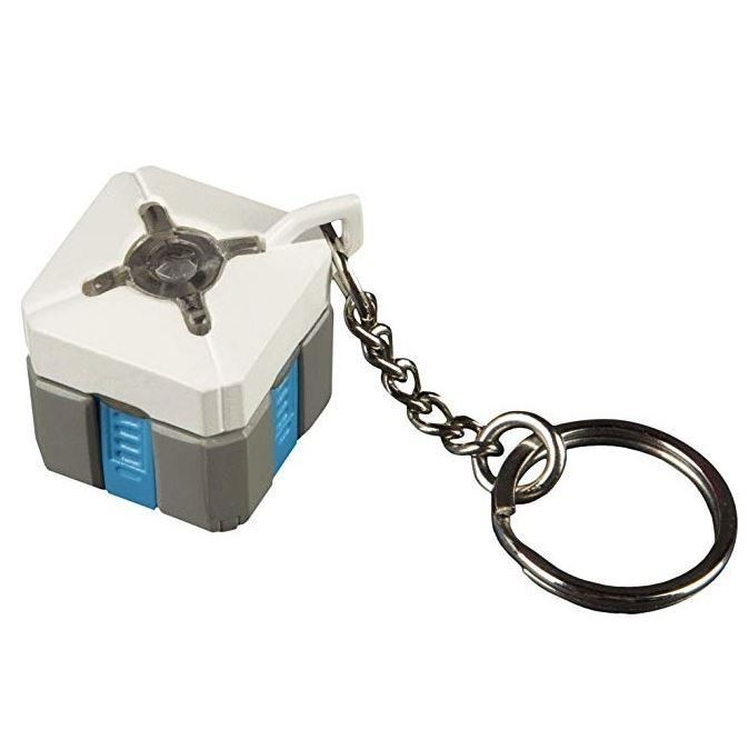 Брелок Overwatch 3D Keychain - Lootbox Light-up JINX