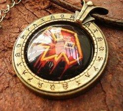 Брелок World of Warcraft  класс шаман Shaman (Металл + стекло)