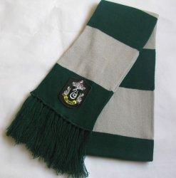 Шарф широкий Слизерин (Scarf Harry Potter Slytherin Wool) №2