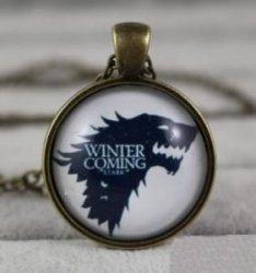 Брелок Game of Thrones Stark Wolf (металл + стекло)