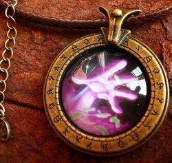 Медальон World of Warcraft  класс чернокнижник Warlock (Металл + стекло)