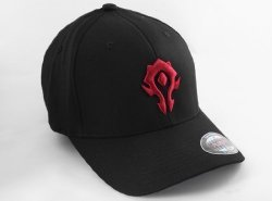 Кепка World of Warcraft Horde 3D Flexfit Hat (размер L/XL, S/M) красный