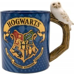 Кружка Harry Potter Hogwarts House Ceramic 3D Mug with Hedwig 20 Oz
