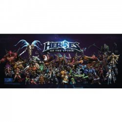 Плакат фирменный Blizzard - Heroes of the Storm Multi-Character Poster