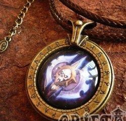 Медальон World of Warcraft  класс рыцарь смерти Death Knight  (Металл + стекло)