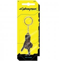 Брелок JINX Cyberpunk 2077 - Silverhand Metal Keychain