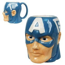 Чашка Avengers - Captain America Marvel Molded 16 oz. Mug