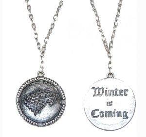 Медальон Game of Thrones Stark Wolf (Winter is Coming)