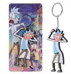 Брелок Рик и Морти Rick And Morty №7 Двухсторонний Объемный 3D брелок