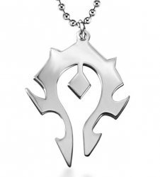Медальон World of Warcraft Horde Titanium steel silver