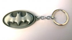 Брелок Batman Dark Knight Metal Keychain (цвет серый)
