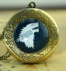 Медальон Game of Thrones Stark Wolf #2 (White)