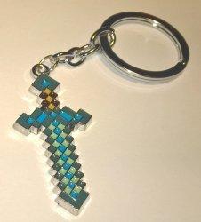 Брелок Minecraft метал №4