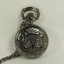 Часы Dark Black Pocket Watch Charm Harry Potter Owl